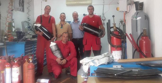 Inspekcija za ronilačke boce i vatrogasne aparate sa CO2